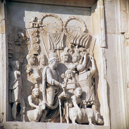 Detail from the arch of Constantine, 3rd century. Artist: Unknown-Unknown-Giclee Print