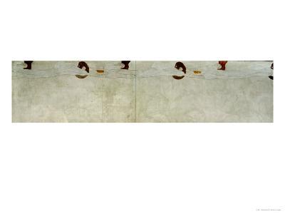 Detail from the Beethoven Frieze, 1902-Gustav Klimt-Giclee Print