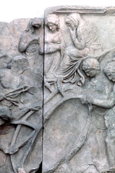 Detail from the Great Frieze of the Pergamon Altar, 180-159 BC. Artist: Unknown-Unknown-Giclee Print