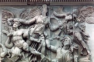 Detail from the Great Frieze of the Pergamon Altar, 180-159 BC