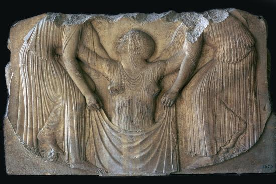 Detail from the Greek 'Ludovisi throne', 5th century BC. Artist: Unknown-Unknown-Giclee Print