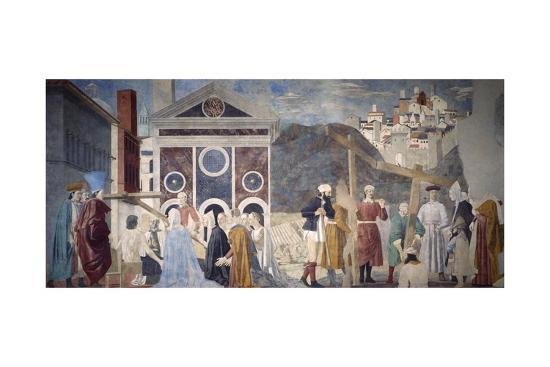 Detail from the Legend of the True Cross Showing Discovery and Verification of True Cross-Piero di Cosimo-Giclee Print