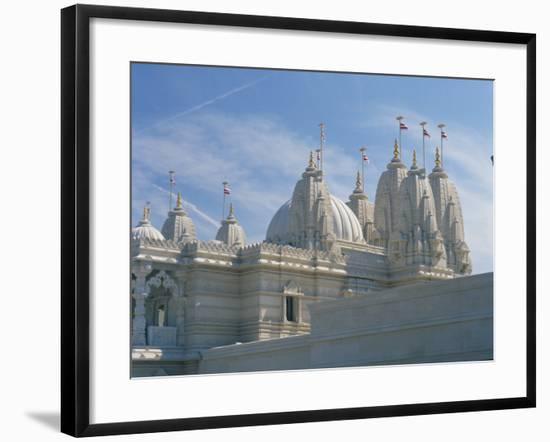 Detail from the Mandir Mahotsav Temple, a New Hindu Temple in Neasden, North London, England, UK-Richardson Rolf-Framed Photographic Print
