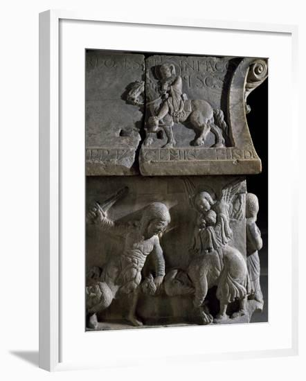 Detail from the Reliefs on the Sarcophagus of Saints Sergius and Bacchus, Early Christian Period--Framed Giclee Print