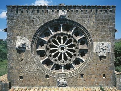 Detail from the Romanic Rose-Window in the Church of Santa Maria Maggiore, Tuscania, Italy--Giclee Print