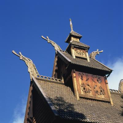 Detail from the Roof of the Gol Stave Church, Built in C.1200--Photographic Print