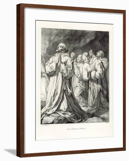 Detail from the Vision of St Bruno-Philippe De Champaigne-Framed Giclee Print