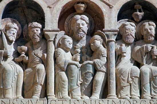 Detail from the west front of Conques Abbey, 11th century-Unknown-Giclee Print