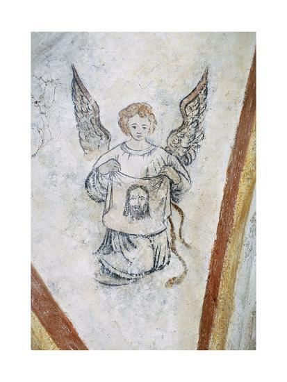Detail from Vault Chapel with Angel and Symbol of Passion, La Vigne Castle--Giclee Print