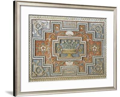 Detail from Walls Decorated with Stuccoes and Mosaics in Room of Mount Parnassus at Villldobrandini--Framed Giclee Print