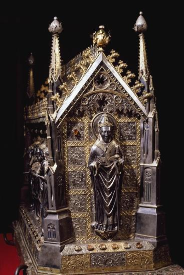 Detail from Wooden Case with Reliquary of St Grato-Giovanni De Malines-Giclee Print