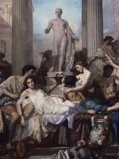 Detail, Les Romains De La Decadence (The Romans of the Decadence), 1847-Thomas Couture-Giclee Print