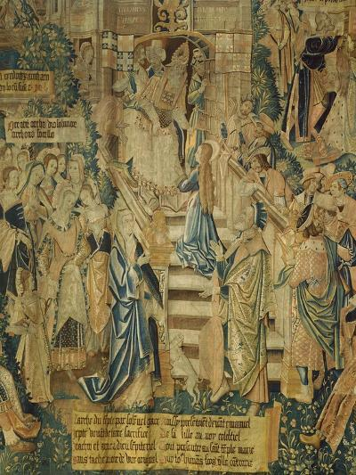 Detail of 16th Century Flemish Tapestry of the Life of the Virgin Mary--Giclee Print