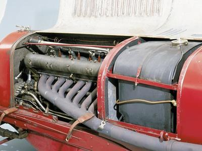 'Detail of a 1928 Maserati Tipo 26B/M 8C 2800 Grand Prix Two Seater Racing Car' Photographic ...