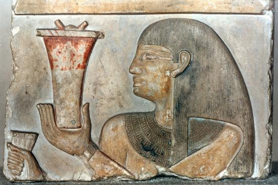 Detail of a bas relief from El-Bahrain, Egypt, 22nd-20th century BC. Artist: Unknown-Unknown-Giclee Print