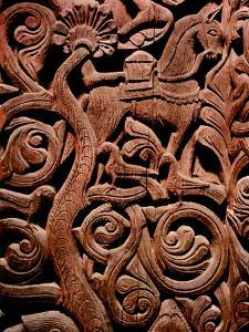 Detail of a Carving from a Stave Church Portal Illustrating the Story of Sigurd
