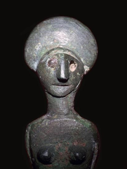 Detail of a Celtic-Iberian style bronze female figurine-Unknown-Giclee Print