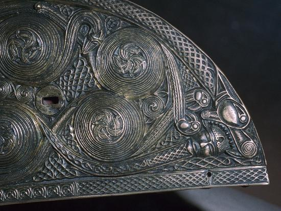 Detail of a Celtic reliquary, 8th century. Artist: Unknown-Unknown-Giclee Print