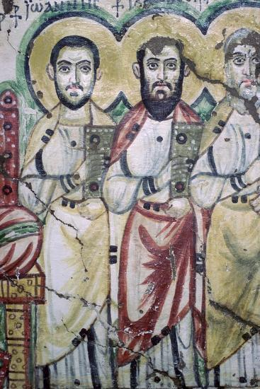 Detail of a coptic wall painting showing two apostles, 6th Century. Artist: Unknown-Unknown-Photographic Print
