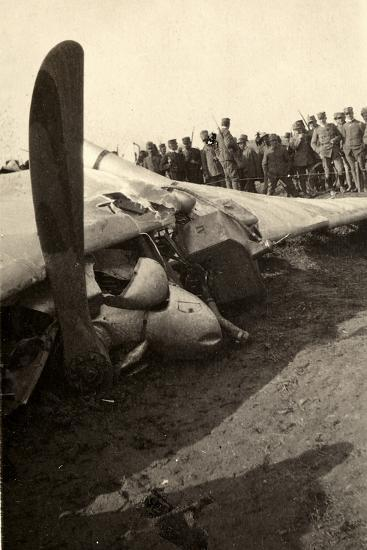 Detail of a Fallen Austrian Airplane in Friuli During World War I-Ugo Ojetti-Photographic Print