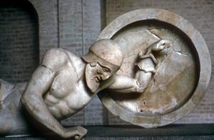 Detail of a Fallen Warrior from the East Pediment of the Temple of Aphaia