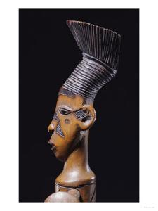 Detail of a Fine Magbetu Harp Depicting the Head Finial in Profile