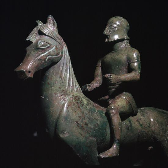 Detail of a Greek bronze of a horseman-Unknown-Giclee Print