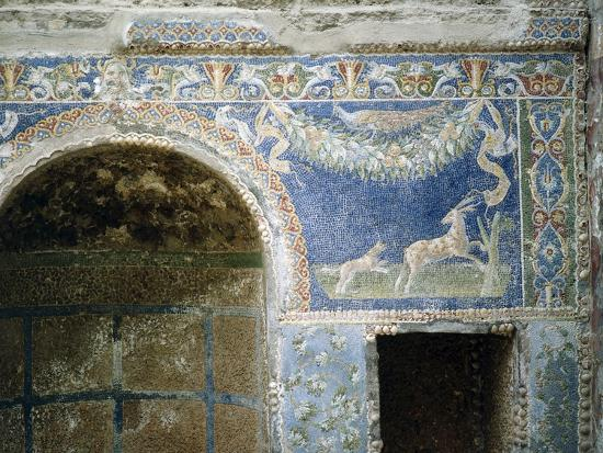 Detail of a Mosaic from the Summer Dining Room at the House of the Neptune and Amphitrite Mosaic--Giclee Print