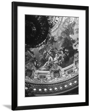 Detail of a Mural Decorating the Entire Ceiling of the Paris Opera House Created by Jules Lenepveu-Walter Sanders-Framed Photographic Print