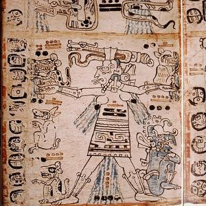 Detail of a Page from the Codex Troana Cortesianus, also Know as the Madrid Codex