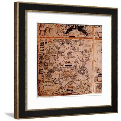 Detail of a Page from the Codex Troana Cortesianus, also known as the Madrid Codex--Framed Giclee Print