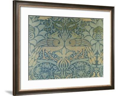 Detail of a Pair of Morris & Co Peacock and Dragon Woven Twill Curtains, circa 1889-Christopher Dresser-Framed Giclee Print
