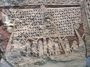 Detail of a Picture Stone Depicting a Viking Ship, from the Isle of Gotland