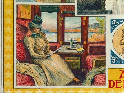 Detail of a Poster Advertising the Compagnie Des Wagons-Lits--Giclee Print