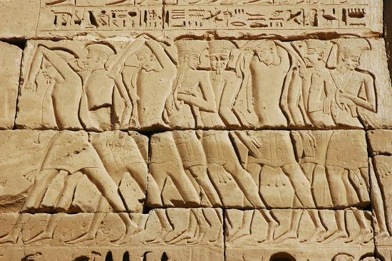 Detail of a relief on the mortuary temple of Ramesses III-Werner Forman-Giclee Print