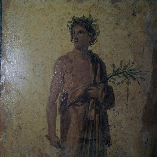 Detail of a Roman wall-painting showing a poet, 1st century. Artist: Unknown-Unknown-Giclee Print
