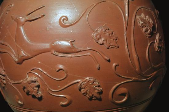 Detail of a Samian ware pot found in England. Artist: Unknown-Unknown-Giclee Print