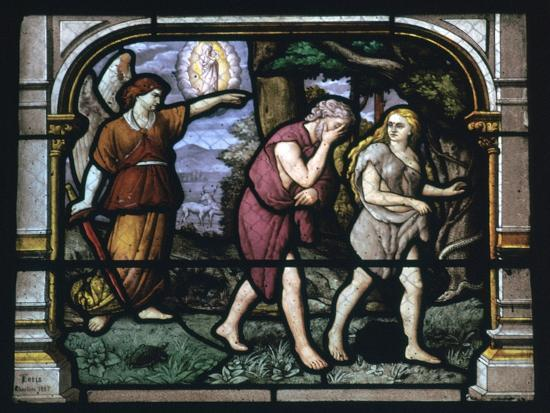 Detail of a stained glass window in Chartres, 19th century-Unknown-Giclee Print