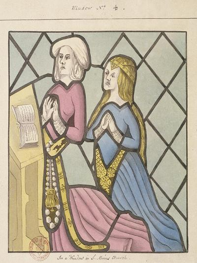 Detail of a Stained Glass Window, St Giles, South Mimms, Hertfordshire, C1800--Giclee Print