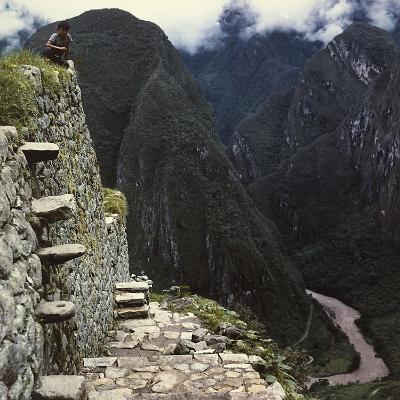 Detail of a Structure at Machu Picchu, Peru-Pietro Ronchetti-Photographic Print