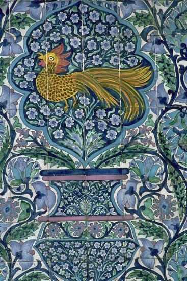 Detail of a tile design in Nabeul, Tunisia. Artist: Unknown-Unknown-Giclee Print