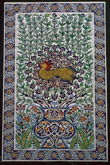 Detail of a tile design in Nabuel, Tunisia. Artist: Unknown-Unknown-Giclee Print