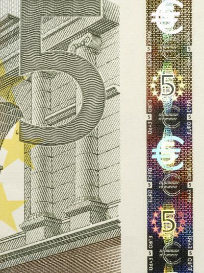 Detail of a Traditional Five Euro Banknote--Photographic Print