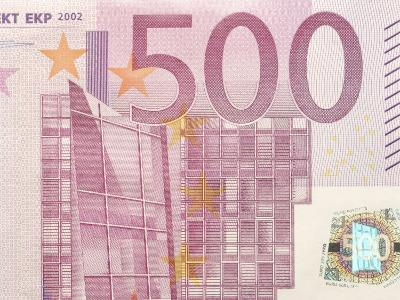 Detail of a Traditional Five Hundred Euro Banknote--Photographic Print