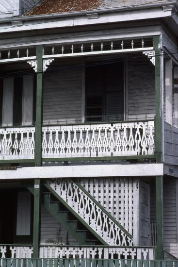 Detail of a Traditional House, Belize City, Belize--Photographic Print