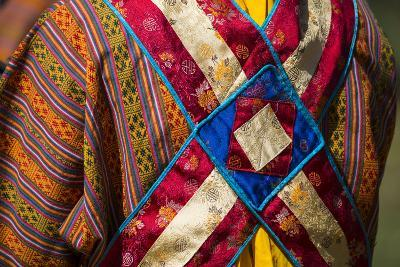 Detail of a Traditional Robe as Seen from the Rear-Michael Melford-Photographic Print