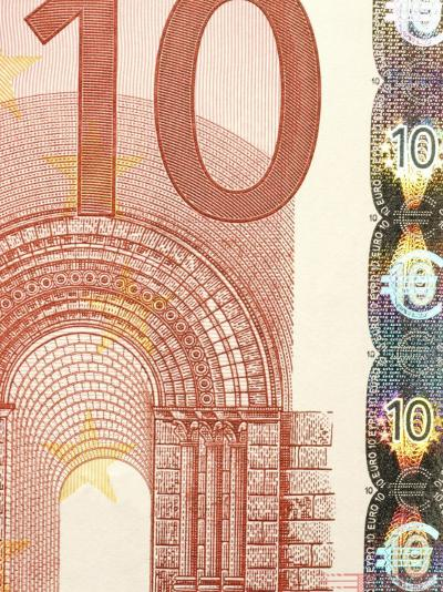 Detail of a Traditional Ten Euro Banknote--Photographic Print
