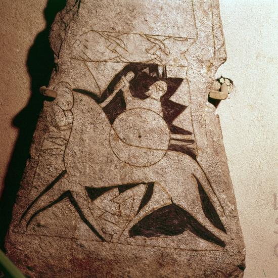Detail of a Viking Horseman, Stela, Gotland, c8th century-Unknown-Giclee Print