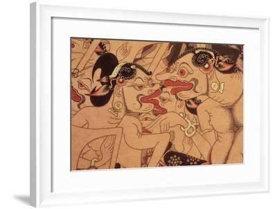 Detail of a Wayang Beber Scroll--Framed Giclee Print