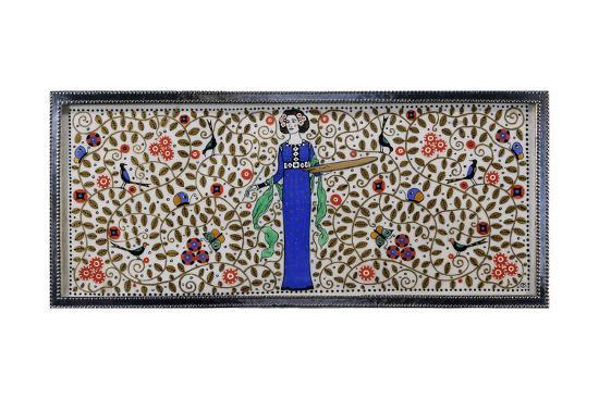 Detail of a Wiener Werkstatte Silver and Painted Casket--Giclee Print